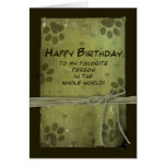 Birthday greeting  FROM PET - PAW IMPRESSIONS Card