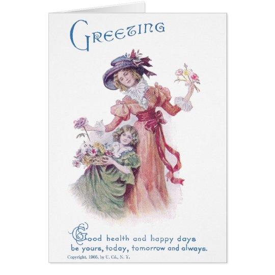 Birthday Greeting from Woman & Girl Card