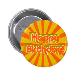 Birthday Greeting Retro style 2 Inch Round Button