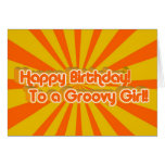 Birthday Greeting Retro style Cards