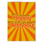 Birthday Greeting Retro style Greeting Card