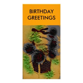 BIRTHDAY GREETINGS, CARD