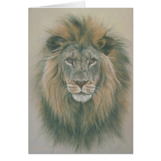 Birthday Greetings Card With Lion Picture