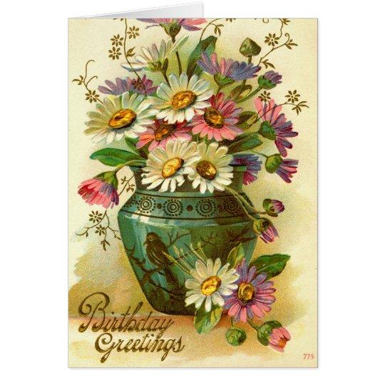 Birthday Greetings Flowers 1915 vintage Card – Birthday Greetings Flowers