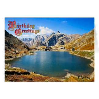 Birthday Greetings - Glacier fed lake Card