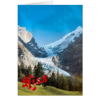 Birthday Greetings - Glacier, Grindelwald Greeting Card