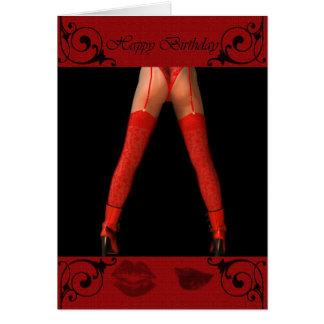 birthday greetings legs red card
