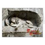 Birthday Greetings - Lion monument, Lucerne Greeting Card