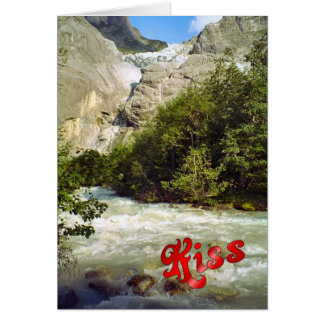 Birthday Greetings - Meltwater river Greeting Card