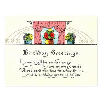 """Birthday Greetings"" Postcards"