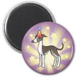 Birthday Greyhound / Whippet / Italian Greyhound 2 Inch Round Magnet