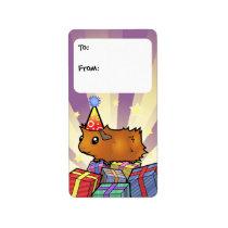 Birthday Guinea Pig Gift Tags (scruffy)