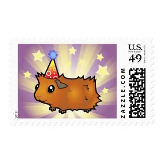 Birthday Guinea Pig (scruffy) Postage