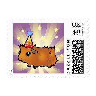 Birthday Guinea Pig (scruffy) Postage