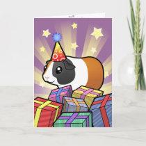 Birthday Guinea Pig (smooth hair) Card