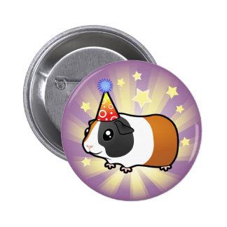 Birthday Guinea Pig (smooth hair) Pinback Button