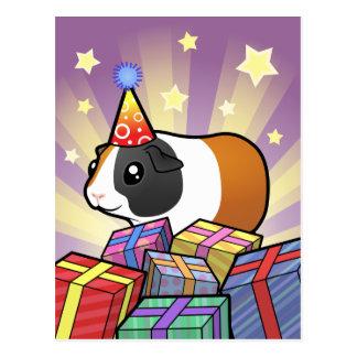 Birthday Guinea Pig (smooth hair) Postcard