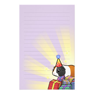 Birthday Guinea Pig (smooth hair) Stationery