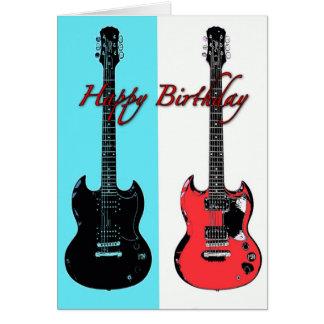 Birthday Guitars Greeting Card