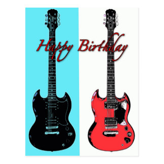 Birthday Guitars Post Card