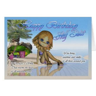 Birthday Half Sister Cutie Pie Collection beach li Card