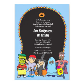 Birthday Halloween Costume Party Invitation