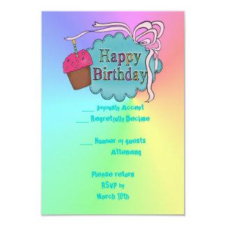 Birthday Happy Birthday 3.5x5 Paper Invitation Card
