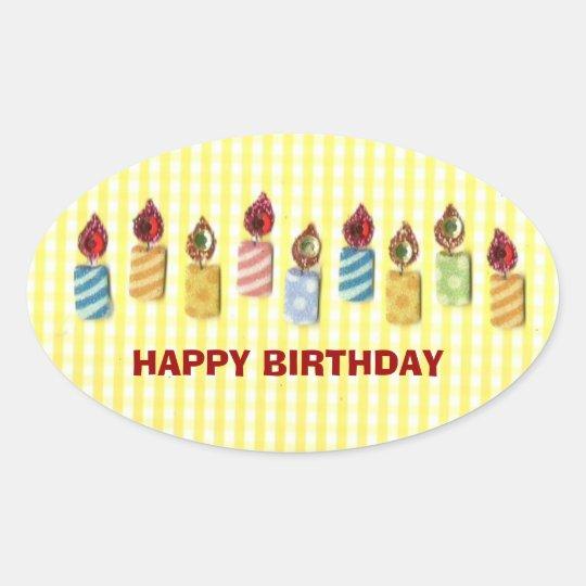 BIRTHDAY: Happy Birthday, Birthday Candle Sticker