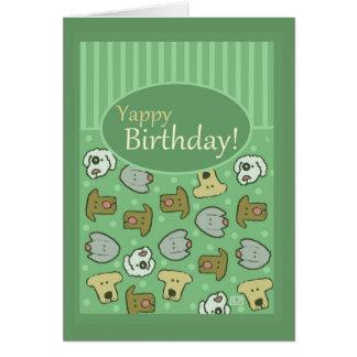 Birthday, Happy Birthday, Dog, Yappy, Cute Greeting Card
