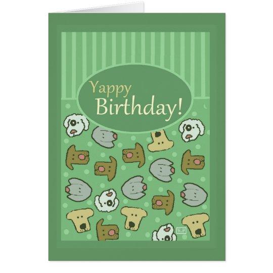 Birthday, Happy Birthday, Dog, Yappy, Cute Card