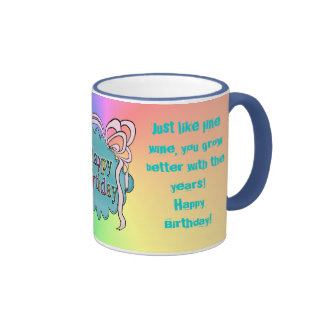Birthday Happy Birthday Ringer Coffee Mug