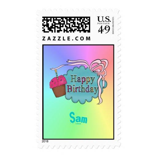 Birthday Happy Birthday Postage Stamps