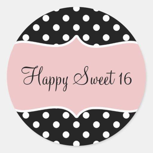 Happy 16th Birthday Gift Ideas Spaceform Sweet Sixteen: Birthday Happy Sweet 16 Classic Round Sticker