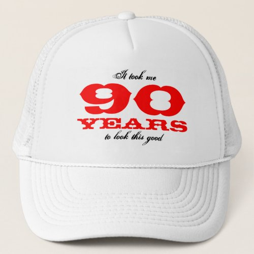 Birthday hat for 90 year old  Personalizable age