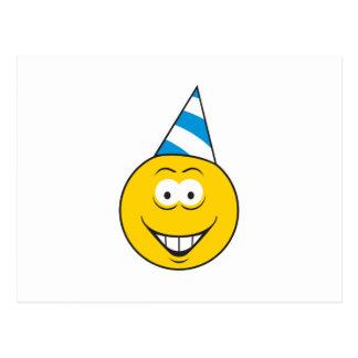 Birthday Hat Smiley Face Postcard