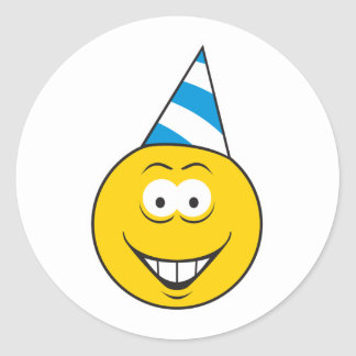 Birthday Hat Smiley Face Stickers