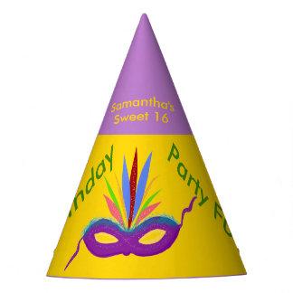 Birthday Hats Purple Mardi Gras Mask Personalized