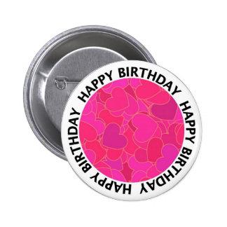 Birthday heart button