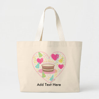 Birthday Heart Tote Bag