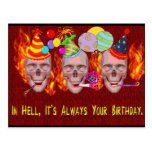 Birthday Hell Postcard