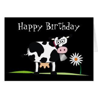 Birthday_Here feliz es algún MOO-LAH Tarjeta De Felicitación