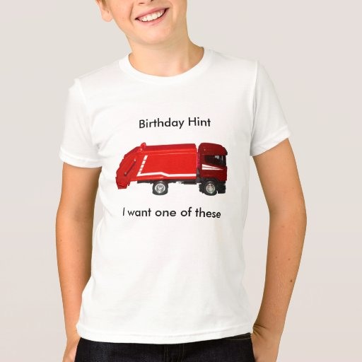 Birthday Hint T-shirt (6-8 yrs)