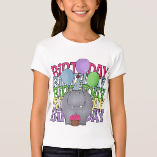 Birthday Hippo Children's Gift T-Shirt