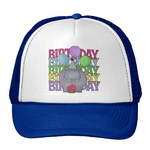Birthday Hippo Children's Gift Trucker Hat