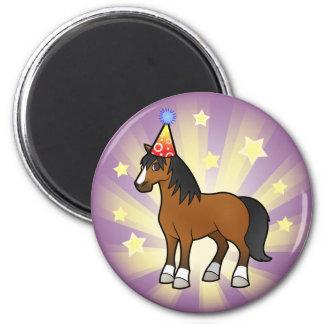 Birthday Horse 2 Inch Round Magnet