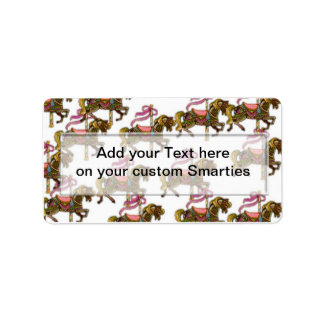 Birthday Horses Smartie Candy wrappers Labels
