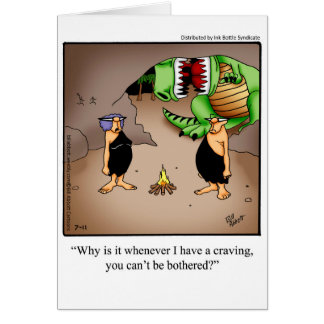 """Birthday Humor """"Cravings"""" Greeting Card For Her"""