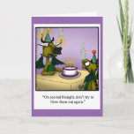 "Birthday Humor Dragons Greeting Card For Kids<br><div class=""desc"">Enjoy spreading the laughter with this funny cartoon dragons  happy birthday greeting card by artist Bill Abbott. Bill Abbott's cartoon ""Spectickles"" the internationally syndicated comic has also appeared in Hallmark U.K.,  Reader's Digest,  Saturday Evening Post and other fine magazines!</div>"