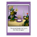 Birthday Humor Dragons Greeting Card For Kids