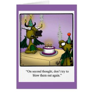 Birthday Humor Dragons Greeting Card For Kids